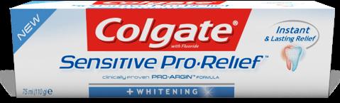 Colgate Sensitive Pro Relief Whitening Προσφέρει Άμεση Ανακούφιση Από Τον Πόνο Των Ευαίσθητων Δοντιών 75ml