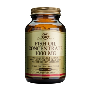 Solgar Fish Oil Concentrate 1000mg 60softgels