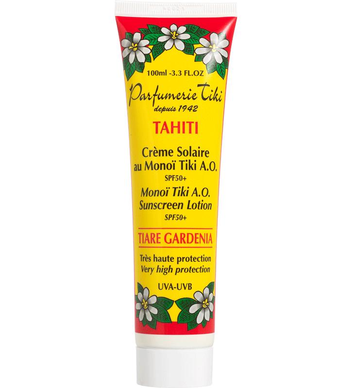 Monoi Tiki Tahiti A.O. Sunscreen Lotion Tiare Gardenia Spf50+ Αντηλιακό Γαλάκτωμα Προσώπου & Σώματος με Άρωμα Γαρδένιας 100ml