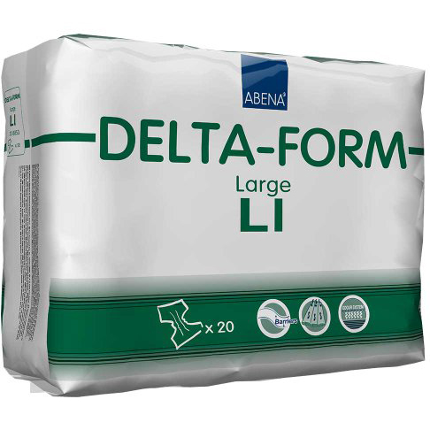 Abena Delta-Form Adults Πάνα για Βαριάς Μορφής Ακράτεια Ενηλίκων Μεγάλο Μέγεθος 100-150cm Delta L1 20τεμάχια