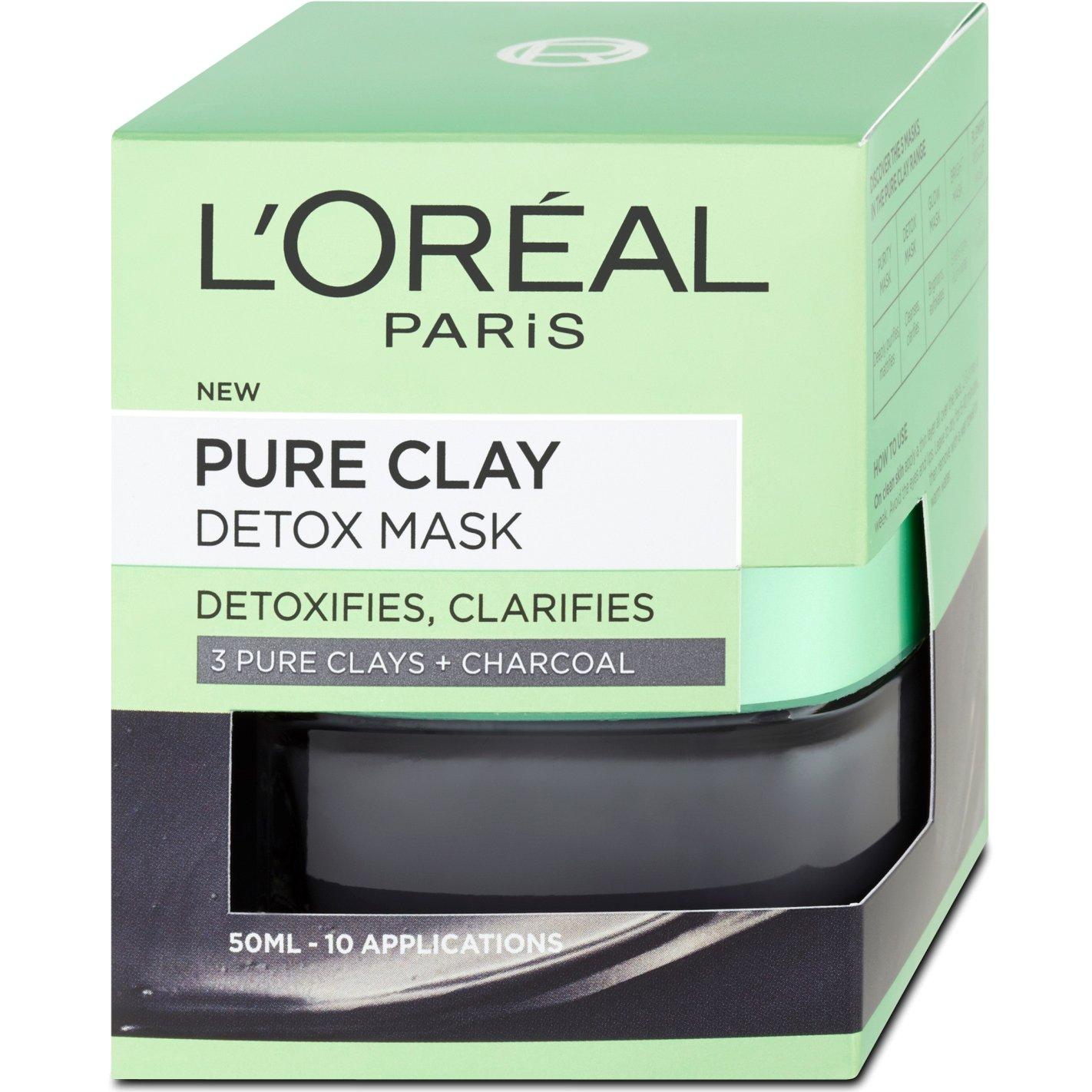 L'oreal Paris Pure Clay Detox Mask Μάσκα Αργίλου για Βαθύ Καθαρισμό & Λάμψη 50ml