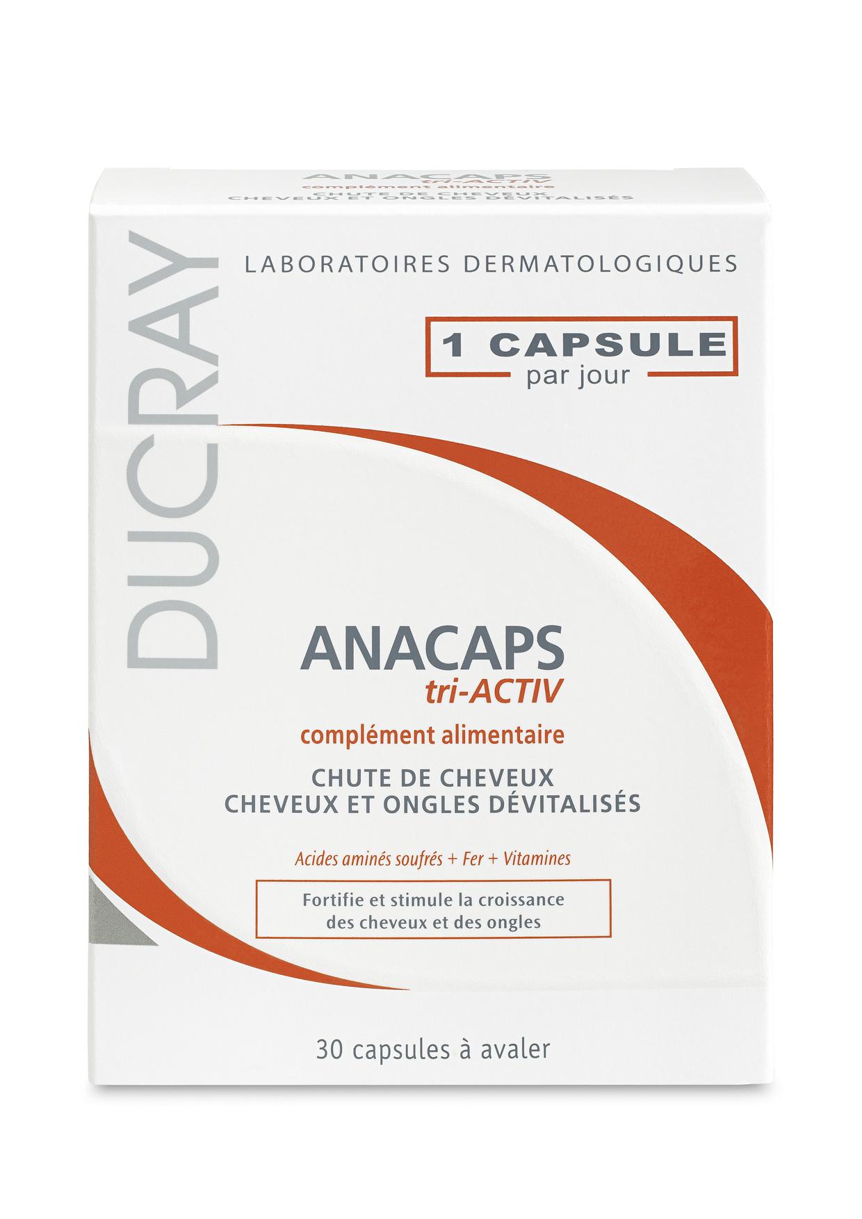 Ducray Anacaps Tri-activ Ενδυνάμωση των Μαλλιών και των Νυχιών 30 κάψουλες