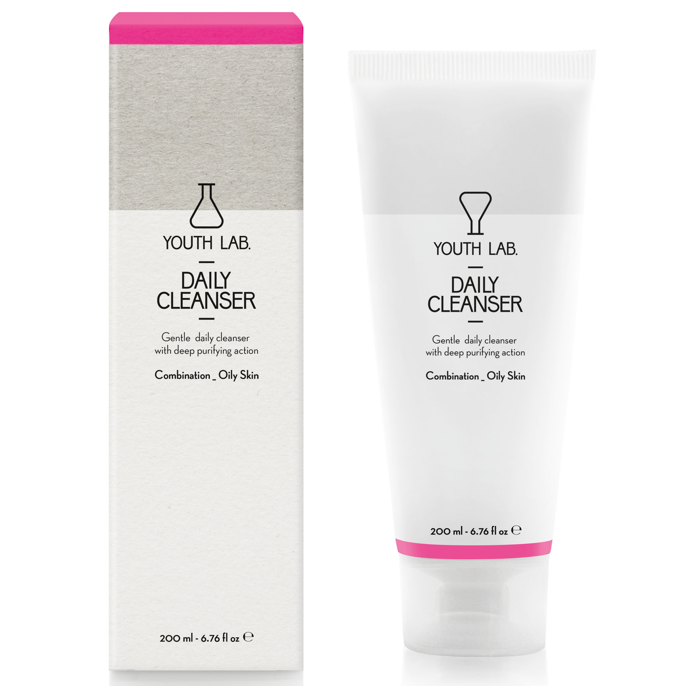 YOUTH LAB. Daily Cleanser Combination Oily Skin, Τζελ Καθαρισμού για Λιπαρές – Μικτές Επιδερμίδες 200ml