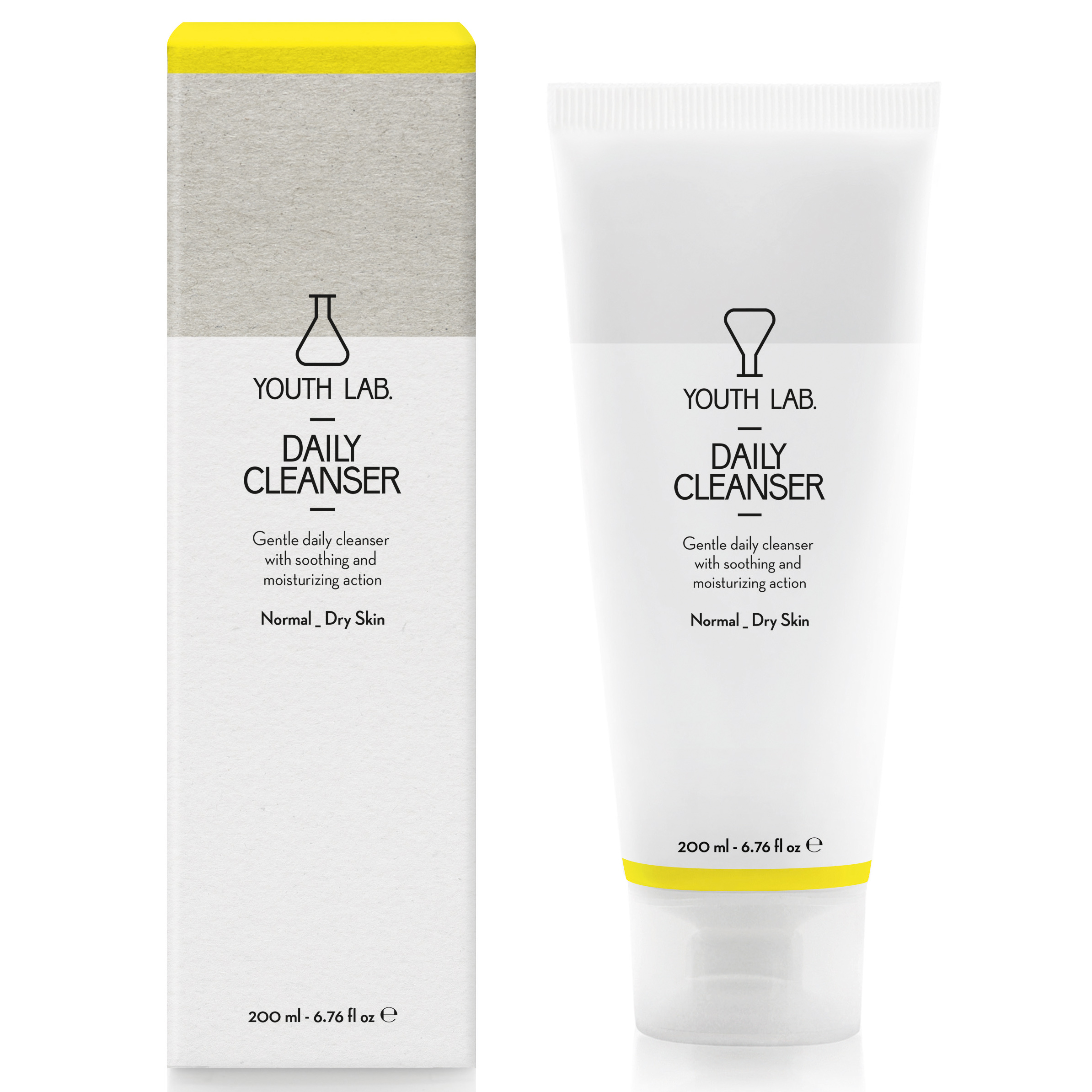 YOUTH LAB. Daily Cleanser Normal Dry Skin Τζελ Καθαρισμού για Κανονικές – Ξηρές Επιδερμίδες200ml