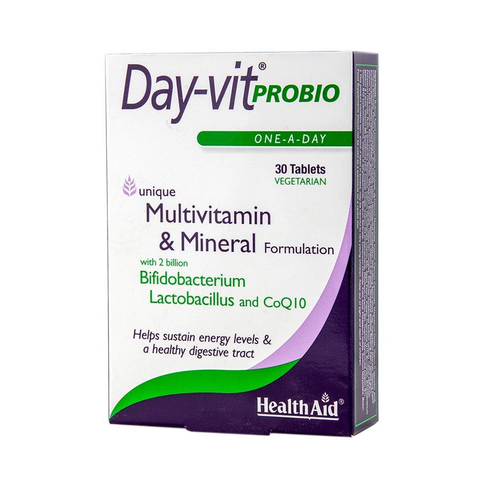 Health Aid Day-Vit Probio 2Billion Probiotic & Coq10 2Δις Προβιοτικών 30tabs