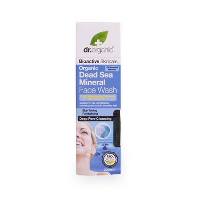 Dr Organic Organic Dead Sea Mineral Face Wash Προϊόν Καθαρισμού για το Πρόσωπο με Βιολογικά Μεταλλικά Στοιχεία 200ml