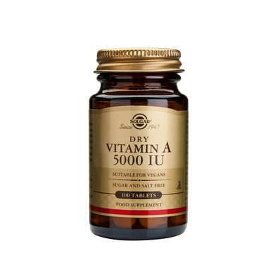 Solgar Vitamin A Dry 5000IU 100tablets