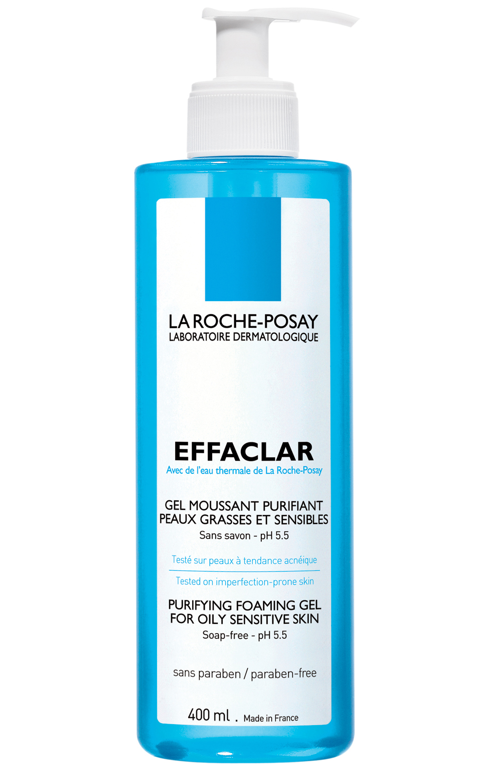 La Roche-Posay Effaclar Gel Moussant Purifiant Gel Καθαρισμού Για Λιπαρό Ευαίσθητο Δέρμα 400ml
