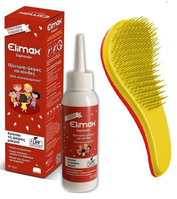 Elimax Σαμπουάν για τις ψείρες 100ml + ΔΩΡΟ Εδικό Χτενάκι Βούρτσα υγιεινή   μαλλιά   αντιφθειρικά