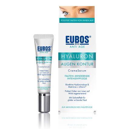 Eubos Cream Hyaluron Eye Contour Αντιγηραντική κρέμα για την περιοχή γύρω από τα μάτια με υαλουρονικό οξύ 15ml
