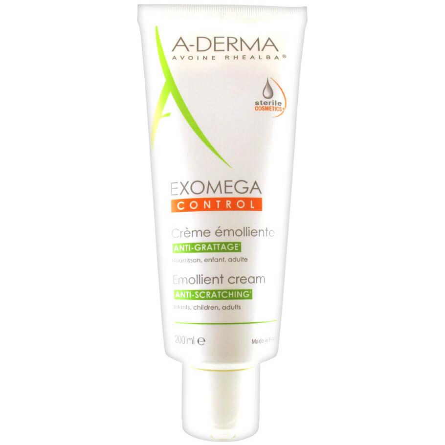 A-Derma Exomega Control Creme Emolliente Μαλακτική Καταπραϋντική Κρέμα για το Αίσθημα του Κνησμού, στο Ξηρό Δέρμα 200ml