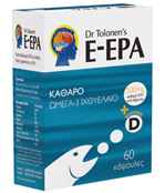 E – EPA Πλούσια Πηγή Ιχθυέλαιου 60 caps