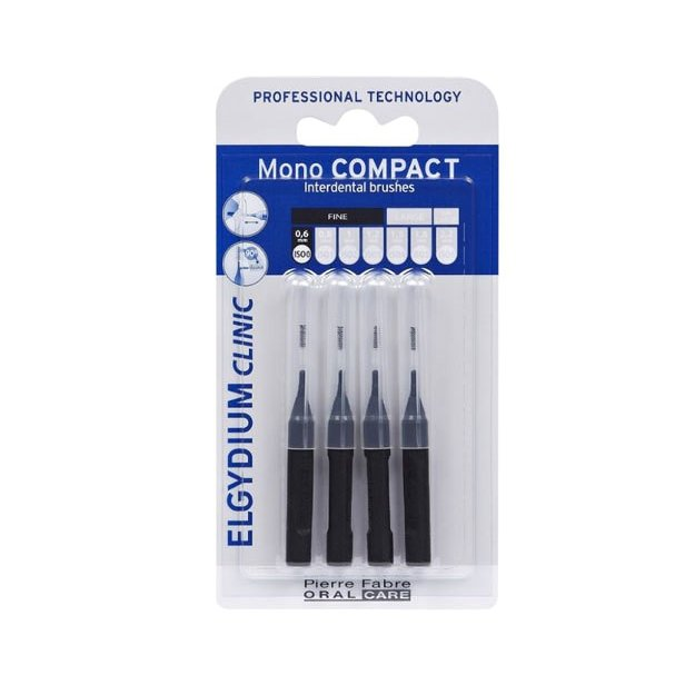 Elgydium Clinic Mono Compact 0.35mm Μεσοδόντια βουρτσάκια 4 τεμάχια