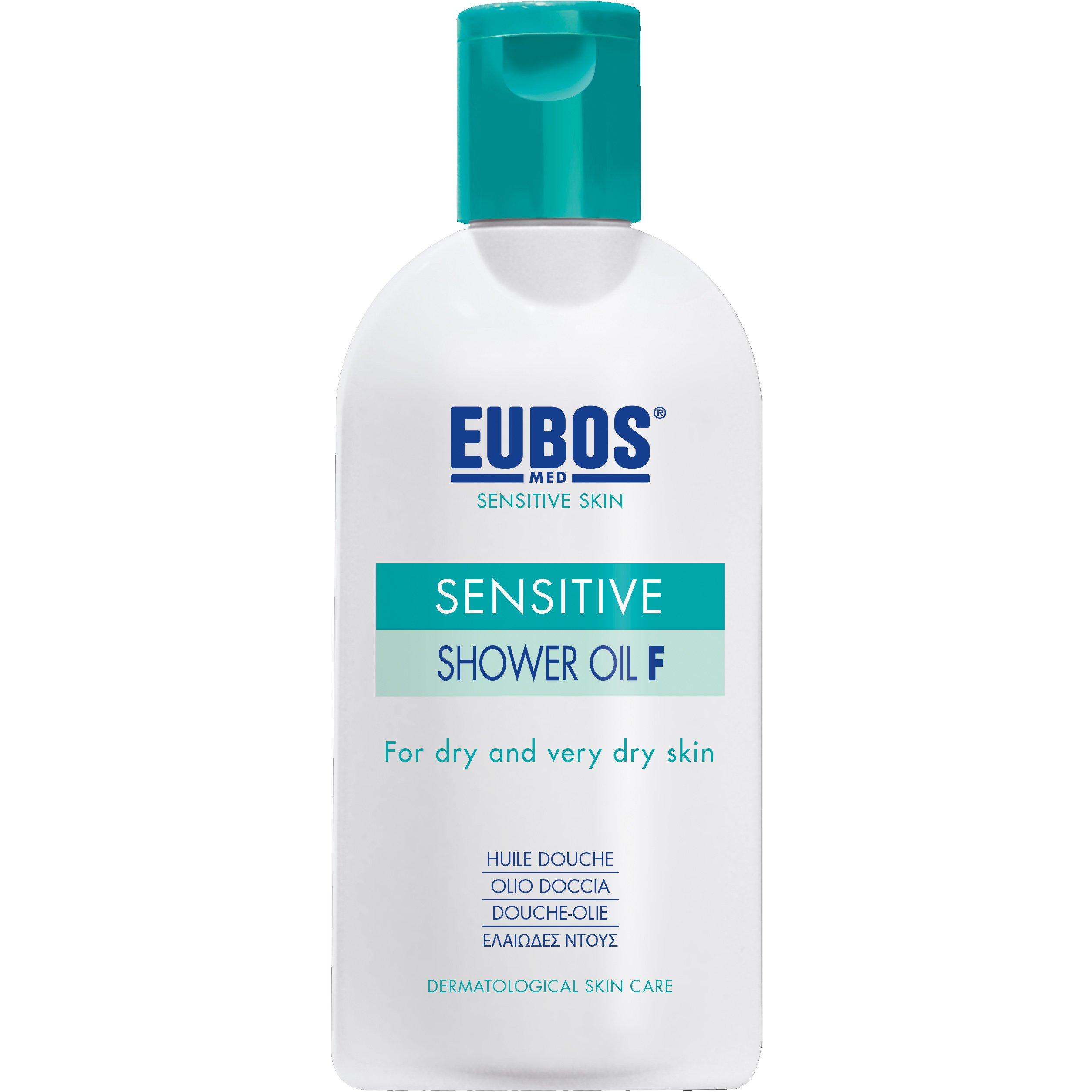 Eubos Sensitive Shower Oil F, Ελαιώδες Ντους για Ξηρό Πολύ Ξηρό Δέρμα 200ml