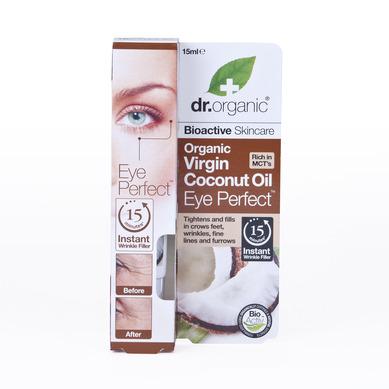 Dr Organic Organic Virgin Coconut Oil Eye Perfect Ορός Ματιών Με Παρθένο Βιολογικό Ελαιο Καρύδας 15ml