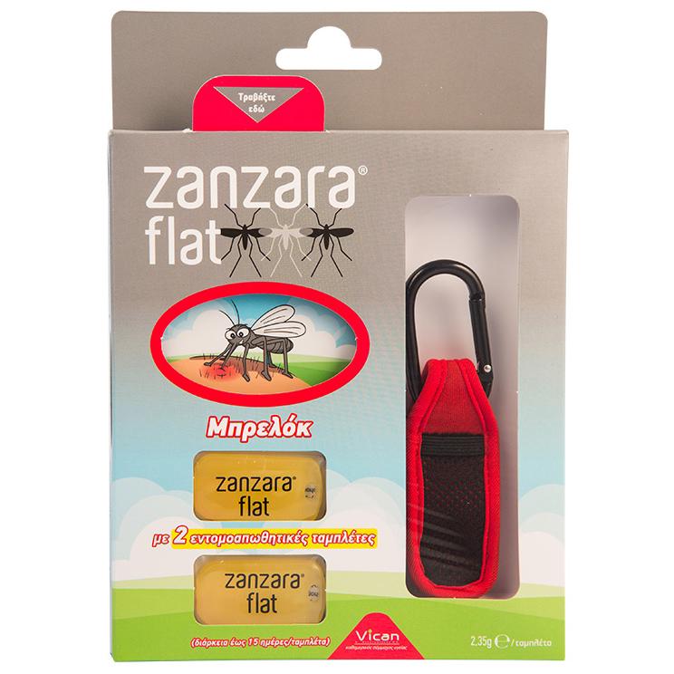 Vican Zanzara Flat - Εντομοαπωθητικό Μπρελόκ με 2 Εντομοαπωθητικές Ταμπλέτες, σε καλοκαίρι   κουνούπια   έντομα   εντομοαπωθητικά γαλακτώματα   spray   βραχιολάκ