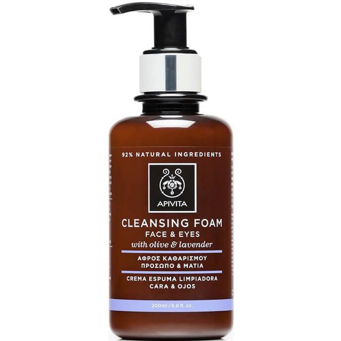 Apivita Cleansing Κρεμώδης Αφρός Καθαρισμού για Πρόσωπο &Μάτια με Ελιά &Λεβάντα 200ml