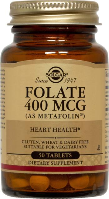 Solgar Folate 400mcg (as Metafolin) Φολικό Οξύ 50 Tablets