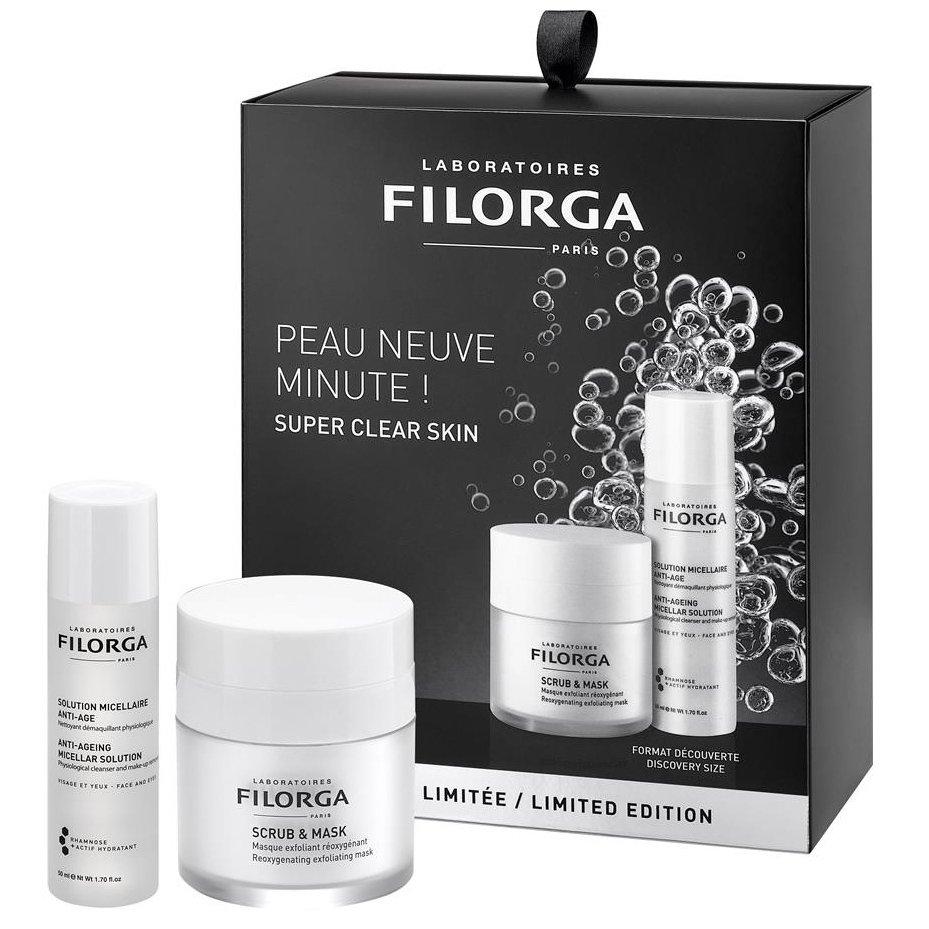 Filorga Limited Edition Scrub & Mask Mάσκα Διπλής Δράσης 55ml & Anti-Ageing Micellar Solution Λοσιόν Καθαρισμού-Ντεμακιγιάζ 50ml