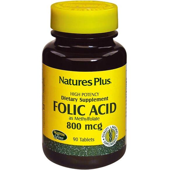 Natures Plus Folic Acid Φυλλικό Οξύ 800mcg 90tabs