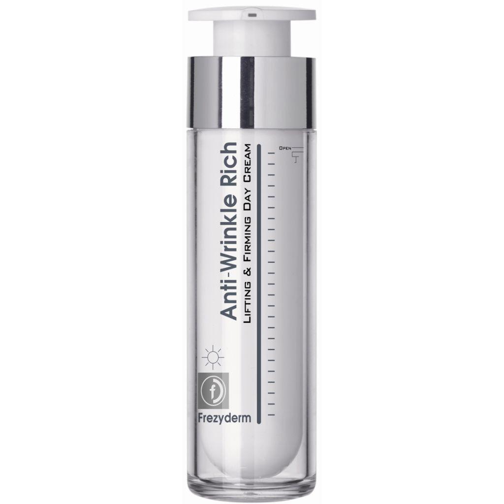 Frezyderm Anti-Wrinkle Rich Day Cream για Ηλικίες 45+Αντιρυτιδική Κρέμα Ημέρας  ομορφιά   αντιγήρανση και σύσφιξη προσώπου   σύσφιξη προσώπου