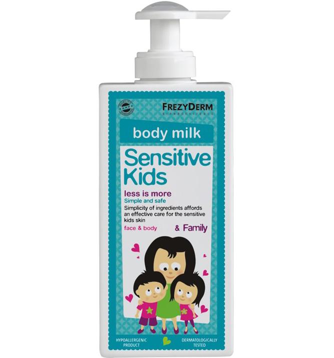 Frezyderm Sensitive Kids Face & Body MilkΑπαλό Ενυδατικό Γαλάκτωμα για την Παιδική Επιδερμίδα 200ml