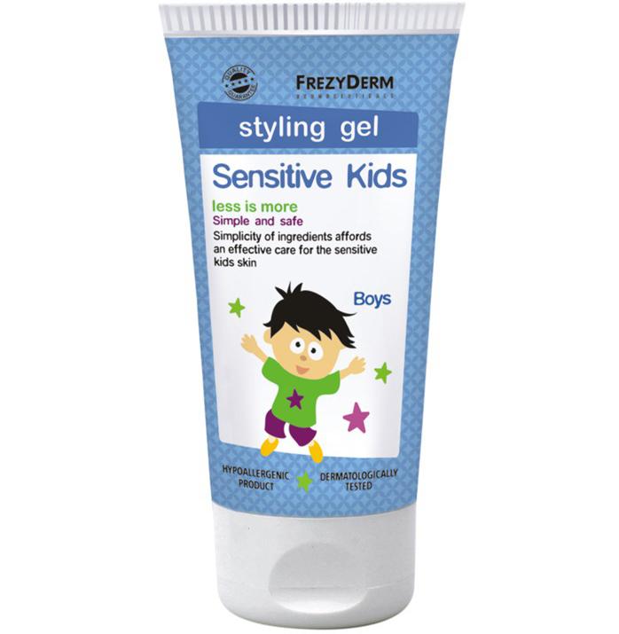Frezyderm Sensitive Kids Hair Styling Gel for Boys Απαλό Gel Μαλλιών για Δυνατό Κράτημα 100ml
