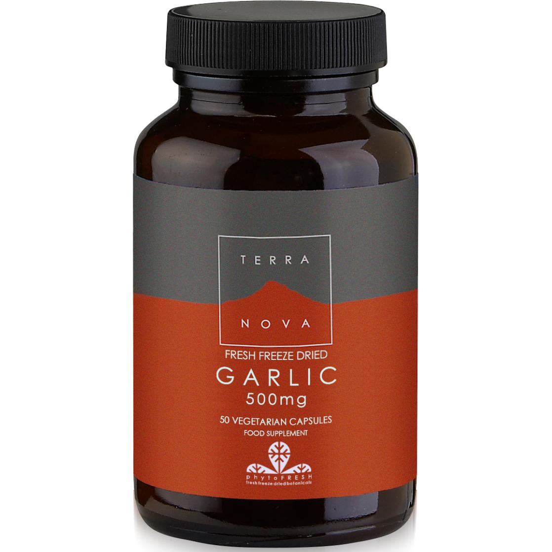 Terranova Garlic 500mg Βιολογικό Σκόρδο Κατάλληλο για Προστασία του Καρδιαγγειακού Συστήματος 50veg.caps