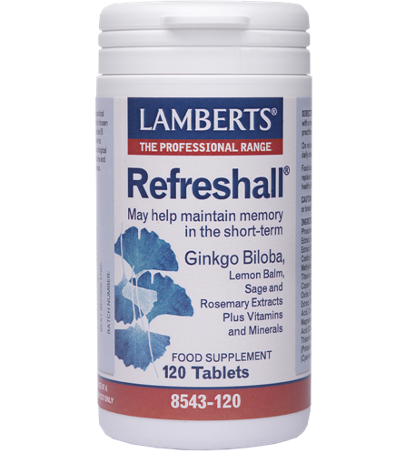 Lamberts Refreshall Συμπλήρωμα Διατροφής για τη Διατήρηση της Βραχυπρόθεσμης Μνήμης120tabs
