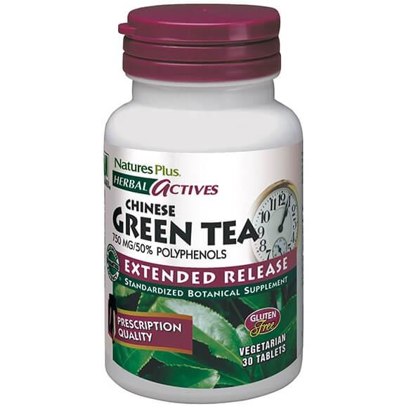 Natures Plus Green Tea 750mg Extended Release Συμπλήρωμα Διατροφής Πράσινο Τσάι  αδυνάτισμα   θαύμα της φύσης    πράσινο τσάι