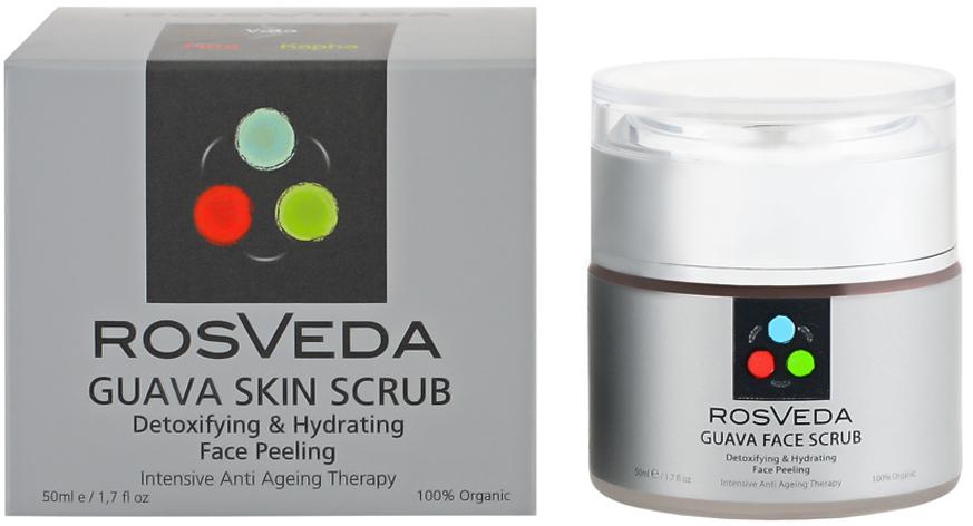 RosVeda Guava Skin Scrub 100% Φυτική Σύνθεση Απολεπιστικό Προσώπου για Αντιγήρανση & Αποτοξίνωση του Δέρματος 50ml