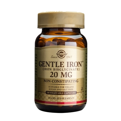 Solgar Gentle Iron 20mg veg.caps – 90 caps