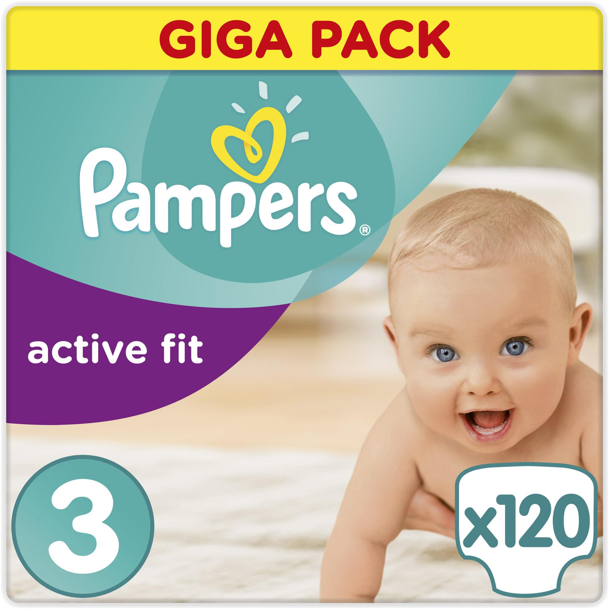 Pampers Active Fit Giga Pack No3 Midi (5-9kg), 120 πάνες μητέρα παιδί   περιποίηση για το μωρό   πάνες για το μωρό