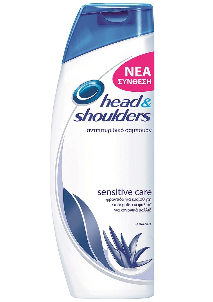 Head & Shoulders Sensitive Care Αντιπιτυριδικό Σαμπουάν Για Ευαίσθητη Επιδερμίδα με Aloe Vera, Καταπράυνση των Ερεθισμών 400ml