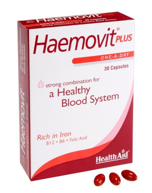 Health Aid Haemovit Plus Blister Δημιουργία Υγιών Ερυθρών Αιμοσφαιρίων 30tabs