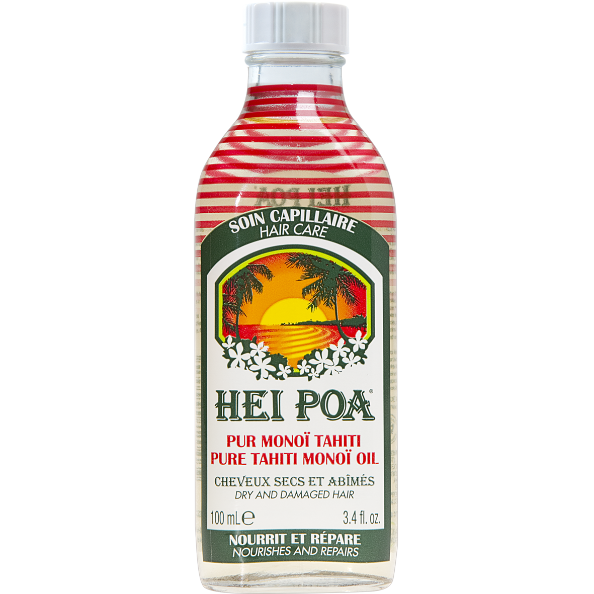 Hei Poa Pure Tahiti Monoi Oil For Hair - Θρεπτικό Λάδι για Ξηρά, Ταλαιπωρημένα κ υγιεινή   μαλλιά   μαλακτικά μάσκες ελιξίρια μαλλιών