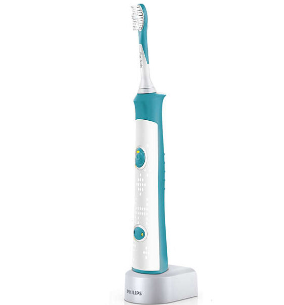 Philips Sonicare For Kids Παιδική Ηλεκτρική Οδοντόβουρτσα για Παιδιά 4+ Ετών με 8 Διαφορετικές Λαβές HX6311/07 1Τεμάχιο