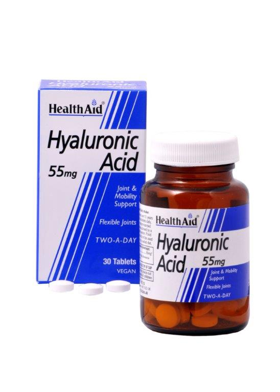 Health Aid Hyaluronic Acid 55mg Υγιή Οστά Και Εύπλαστες Αρθρώσεις 30tabs υγεία ευεξία   βότανα βιταμίνες   ειδικά συμπληρώματα διατροφής