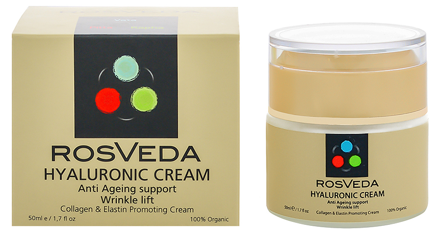 RosVeda Hyaluronic Cream 100% Φυτική Σύνθεση Κρέμα Αντιγήρανσης & Αναζοωγόνησης Για Το Πρόσωπο Με Υαλουρονικό 50ml
