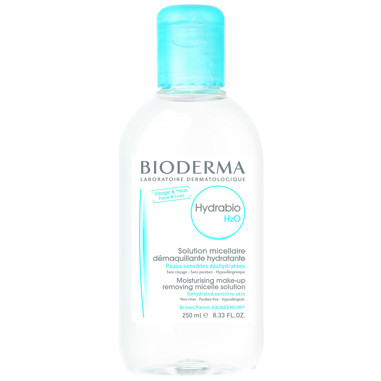 Bioderma Hydrabio H2O Solution Micellaire Διαλυμα καθαρισμού καθαρίζει και αφαιρεί το μακιγιάζ ενώ ταυτόχρονα ενυδατώνει 250ml