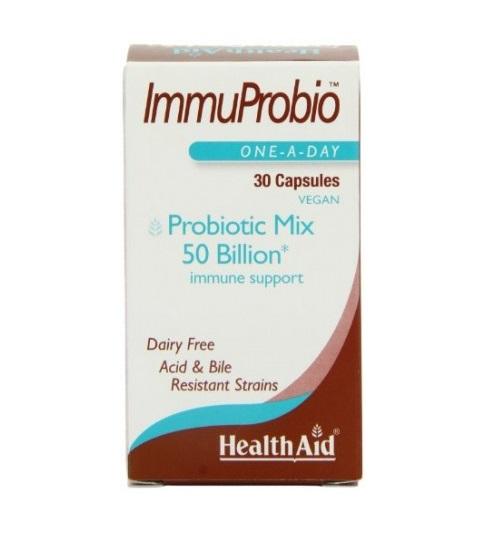 Health Aid ImmuProbio Για Την Καλή Υγεία Του Πεπτικού Συστήματος Και Τη Γενική Ευημερία 30caps
