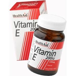 Health Aid Vitamin E 200Iu Natural Ενεργό Αντιοξειδωτικό 60tabs