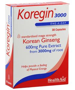 Health Aid Koregin 3000 Κορεάτικο Τζίνσενγκ 30caps