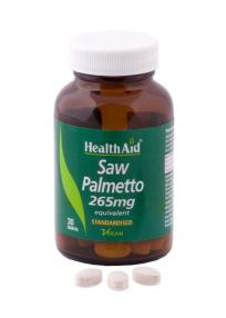 Health Aid Saw Palmetto Berry Extract Tablets Διουρητικές Ιδιότητες Και Αντισηπτική Δράση 30tabs