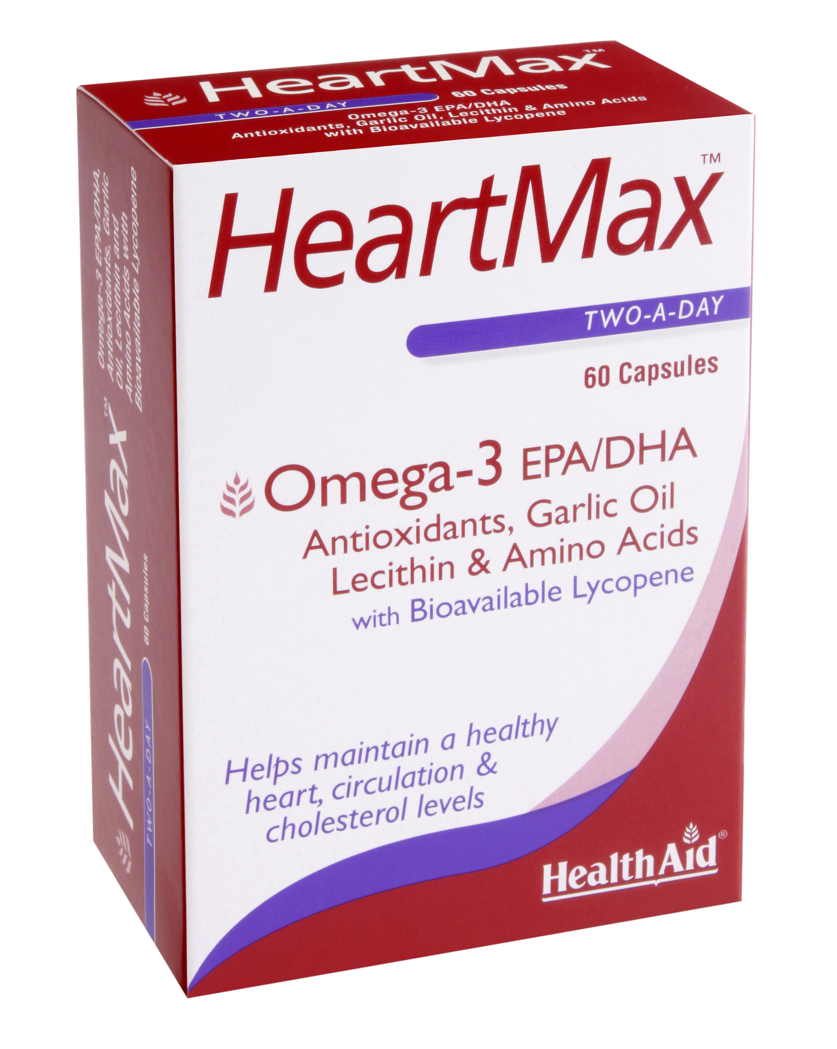 Health Aid Heartmax Μειώνει Τη Χοληστερόλη Και Τα Τριγλυκερίδια 60tabs