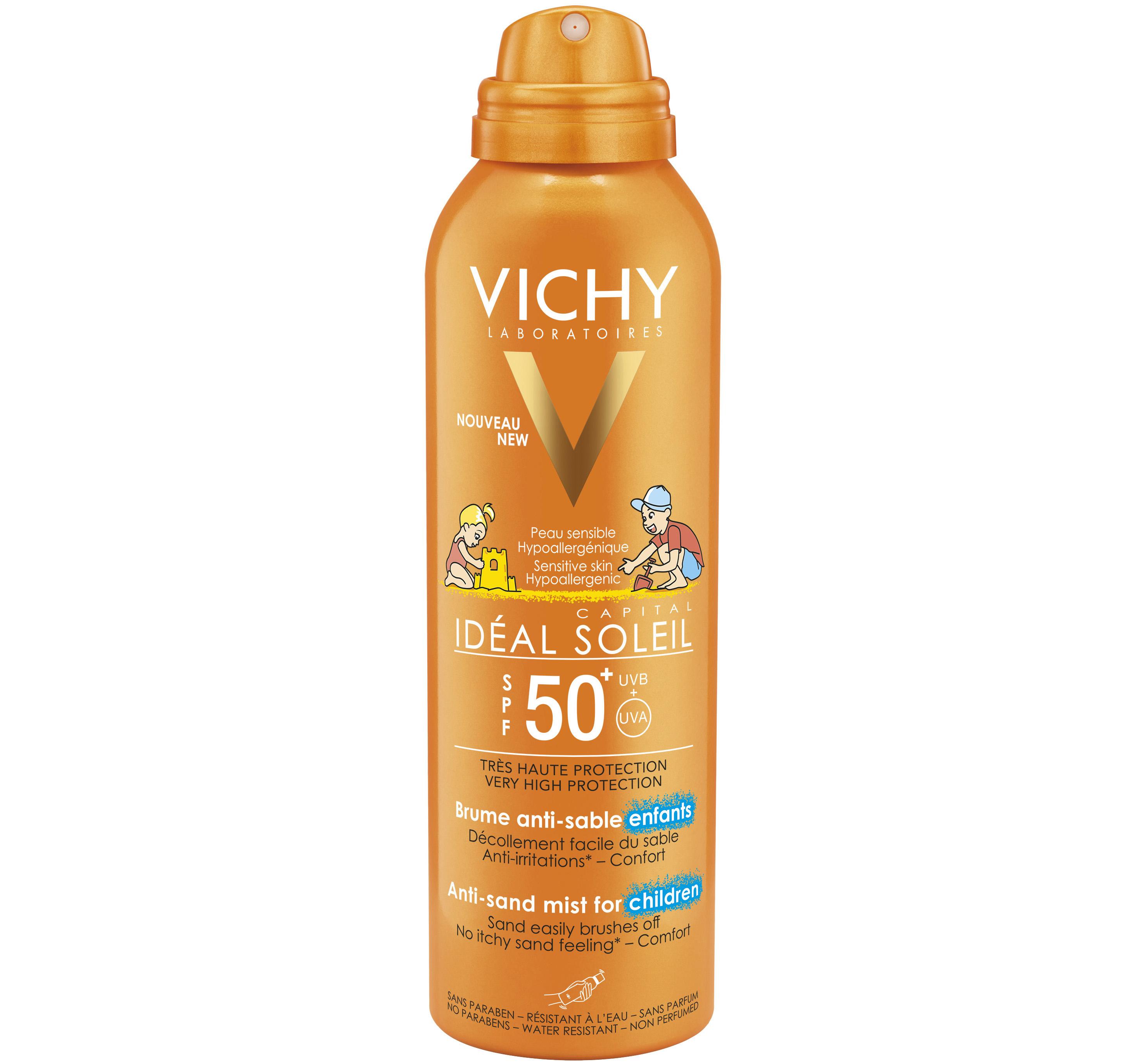 Vichy Ideal Soleil Αντηλιακό Παιδικό Spray που Απομακρύνει την Άμμο Spf50 200ml