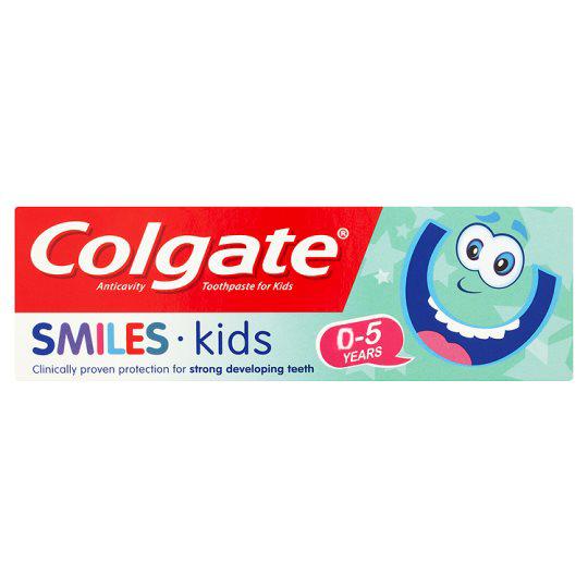 Colgate Smiles Kids Παιδική Οδοντόκρεμα Ειδικά Σχεδιασμένη για Νεογιλά Δόντια & Ευαίσθητα Ούλα 0-5 Ετών 50ml