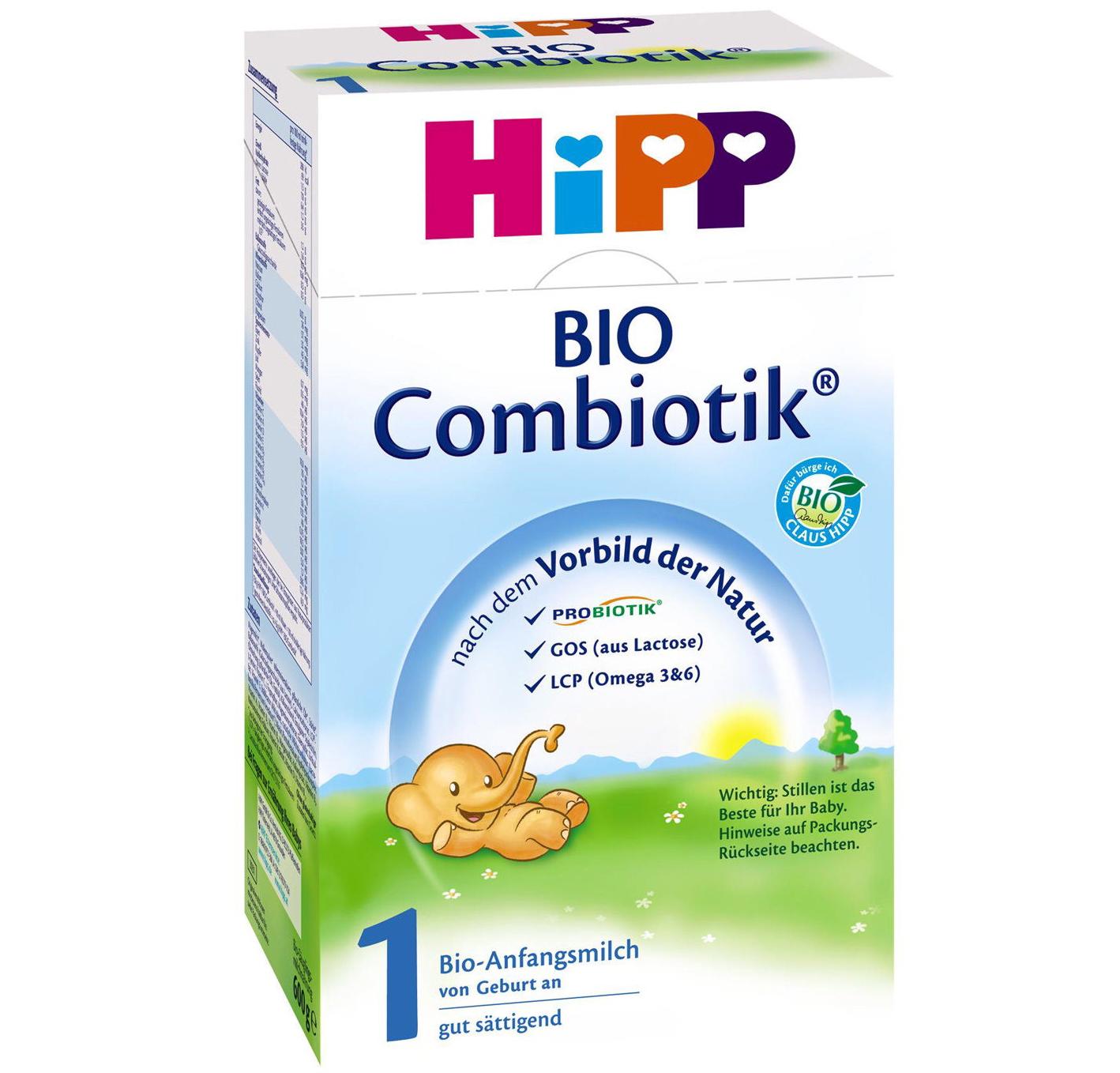 Hipp Bio Combiotic 1 Βιολογικό Γάλα Πρώτης Βρεφικής Ηλικίας No 1 600 gr