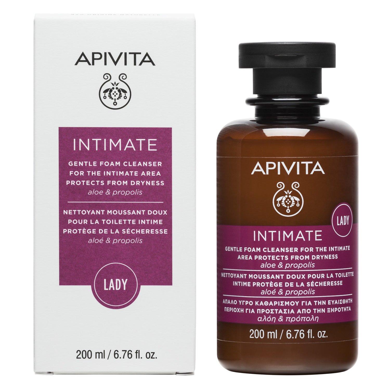 Apivita Intimate Care Lady Απαλό Υγρό Καθαρισμού Για Την Ευαίσθητη Περιοχή Για Προστασία Από Τη Ξηρότητα Με Αλόη & Πρόπολη 200ml