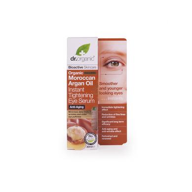 Dr Organic Organic Moroccan Argan Oil Instant Tightening Eye Serum Σέρουμ Ματιών με Βιολογικό Έλαιο Αργκάν 30ml